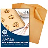 Juvale Non-Stick Parchment Paper Sheets for Baking (12 x 16 in, 200 Pack)