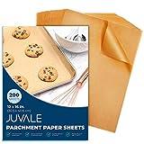 Precut Parchment Paper for Baking, Unbleached Brown