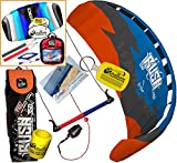HQ Rush V Pro 350 Kiteboarding Trainer Kite CXS Bundle : (5 Items) Includes 2ND Kite : CX 1.5M Foil Control Strap Kite + WindBone Kiteboarding Lifestyle Decals + WindBone Kitesurfing Key Chain + WB Kiteboarding Koozy Cooler