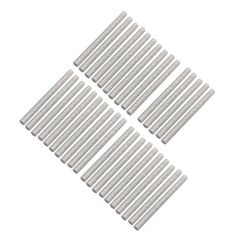 uxcell 35pcs 7mm x 100mm Hot Melt Glue Sticks Silver Tone for DIY Small Craft Projects by uxcell