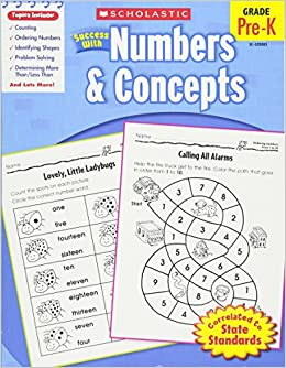 amazon scholastic success with numbers concepts grade pre k
