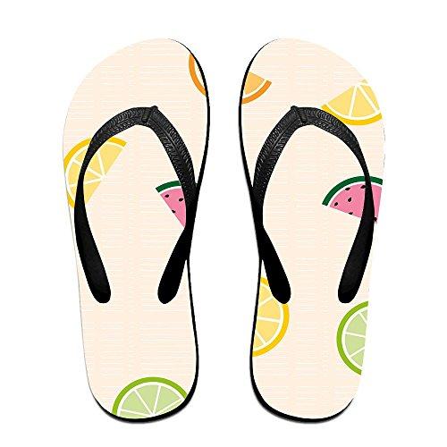 Unisex Fruit Zomer Band Slippers Strand Slippers Platforms Sandaal Voor Mannen Vrouwen Zwart