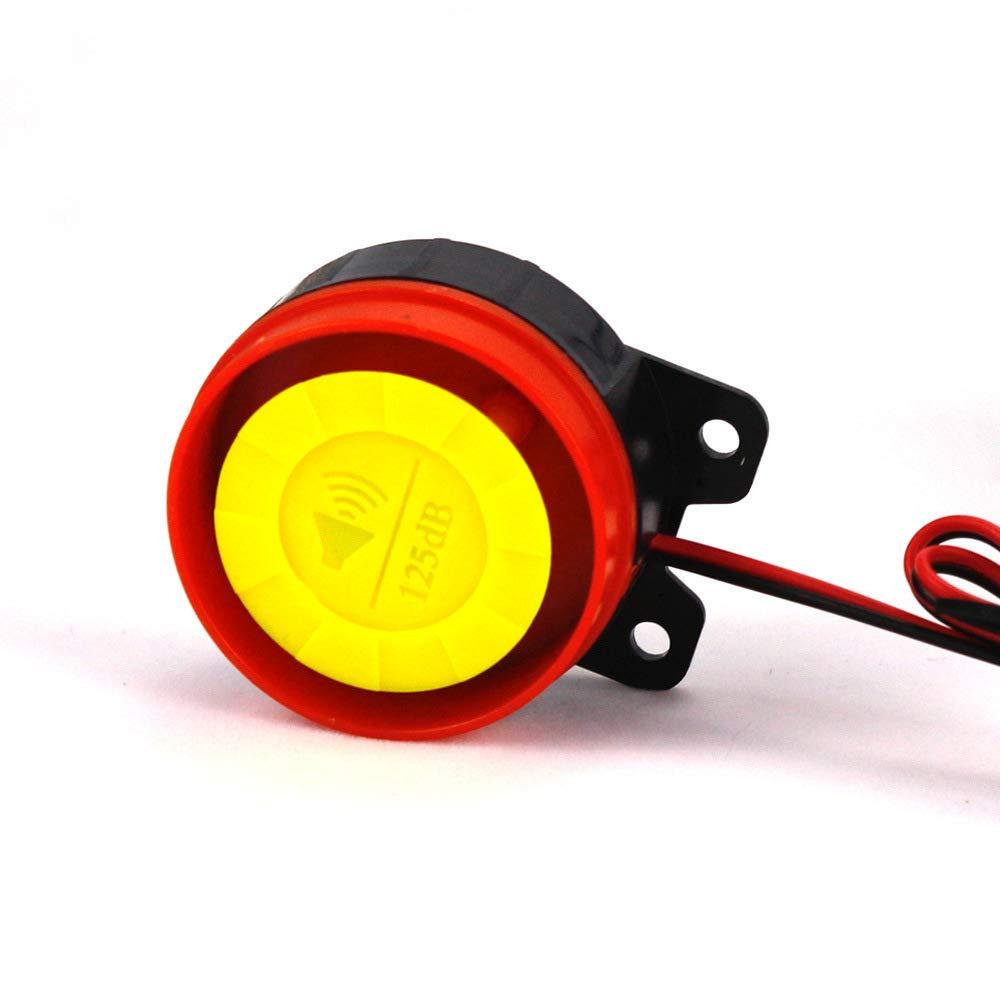 TOOGOO De Dos Vias Alarma Motocicleta Scooter Seguridad De 2 Vias Alarma Control Remoto Sistema De Bloqueo De Alarma De Vibracion De Arranque del Motor