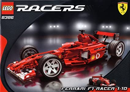 Amazon Com Lego Racers 8386 Ferrari F1 Racer 1 10 By Lego Toys Games