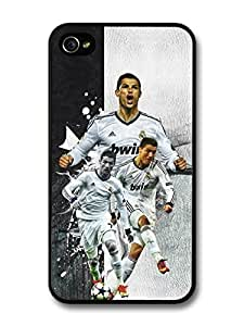 Cristiano Ronaldo Collage Real Madrid CF Football case for iPhone 4 4S A058