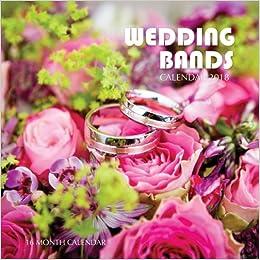 wedding bands calendar 2018 16 month calendar paul jenson 9781977985873 amazoncom books