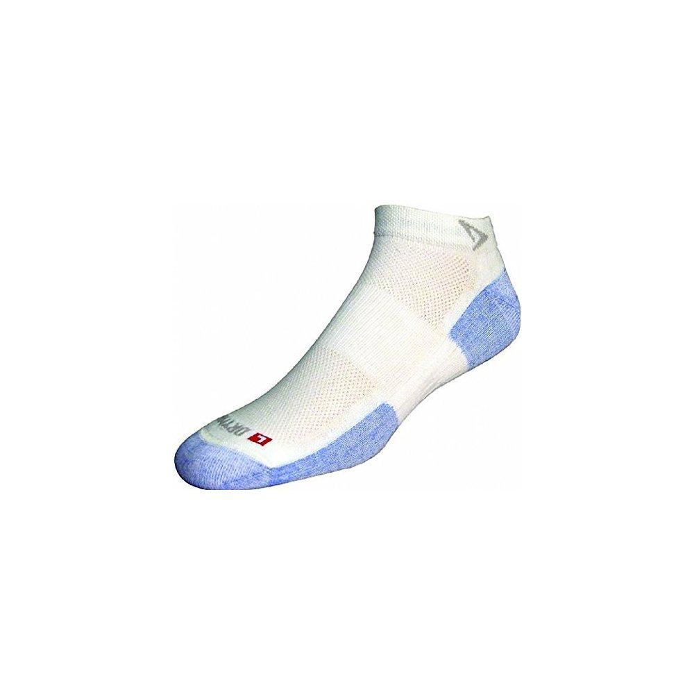Drymax Hot Weather Run Mini Crew Socks White / Blue M 2-Pack