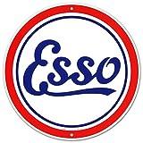 Esso Oil Gasoline Logo Round Tin Sign 12 x 12in