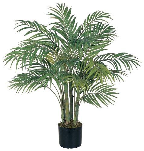 Palm Silk Artificial Areca Tree - Nearly Natural 5000 Areca Decorative Silk Palm Tree, 3-Feet, Green