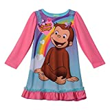 Curious George Long Sleeve Girls Nightgown, Toddlers Size 2T