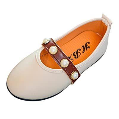 3-6 Years Old Toddler Kids Girls Baby Fashion Princess Dance Leather Casual Single Mary Jane Shoes