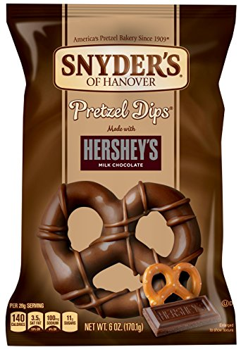 Snyder's of Hanover Pretzel Dips with Hershey's Milk Chocolate, 6 Ounce (Pack of 18)