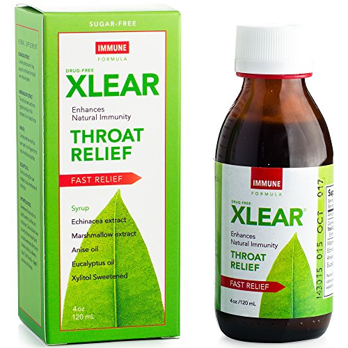XLEAR Natural Throat Relief Syrup - Immune Support Formula