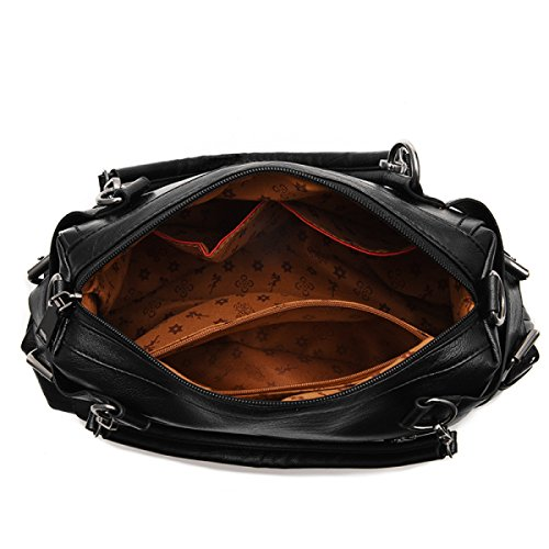 Alta Borse Spalla Sacchetto Black Capacità funzionale Mano Messaggero Ad Mosaico Elegante Atmosferico Multi Semplice Del Di Donne RUxqwHx