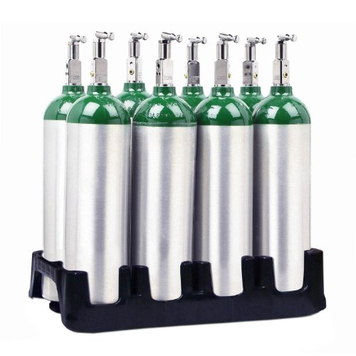 8 Cylinder Composite Plastic Rack for D / E /M9 /M7 Oxygen Cylinders