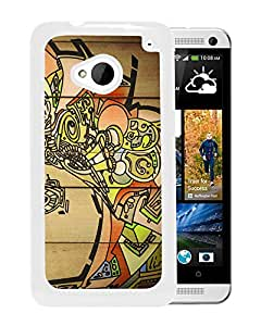New Beautiful Custom Designed Cover Case For HTC ONE M7 With Wood Graffiti (2) Phone Case
