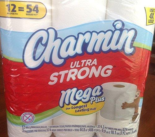 Charmin Ultra Strong Mega Plus 12 Rolls Bathroom Tissue