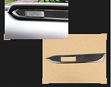 Acouto Carbon Fiber Multimedia Center Console Panel Decorative Trim Sticker for Ford Mustang 2015-2017