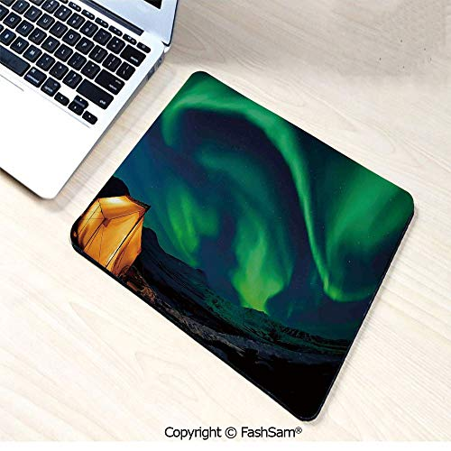 Personalized 3D Mouse Pad Psychedelic Sky on Nordic Camping Radiant Energy Image for Laptop Desktop(W9.85xL11.8)