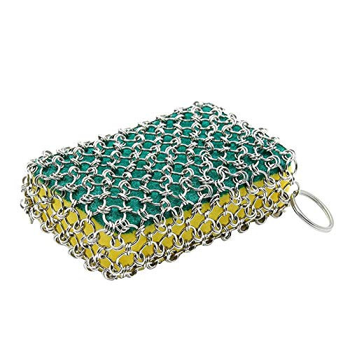 Abrasive Tools - Durable Stainless Steel Chainmail Net Pot Brush Pan Cleaner Sponge Ovens Cleaning - Abrasive Tools Cleaner Disc Longboard Kitchen Brush Chainmail Women Clean Sponge Abrasi