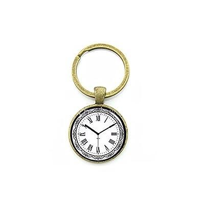 Reloj Llavero encantador patrón de encaje alrededor de reloj ...