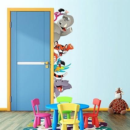 Wall Art Adesivi Da Parete Per Bambini Con Animali Che Giocano A