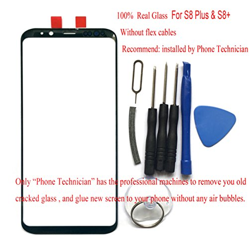 100% Real Glass For Galaxy S8+ &S8 Plus Outer Glass Front Screen top Lens top 6.2 SM-G955 G955A G955FD G955U G955F All Carriers (Not digitizer touch and NOT LCD)