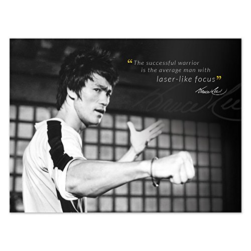 The successful warrior..Bruce lee's Quotes Poster 12×18 inch