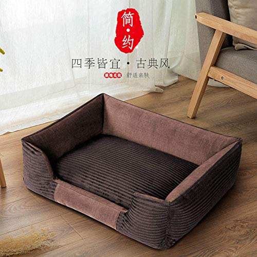 Law fighting Bago Bichon Kejibodi Four seasons kennel removable and washable medium small dog supplies, dark coffee color, XL-super large 110cm75cm