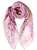 Elizabetta Womens Silk Chiffon Scarf, Extra Large, 54 x 54, Made in Italy