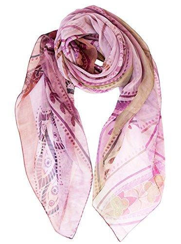 Elizabetta Womens Silk Chiffon Scarf, Extra Large, 54 x 54, Made in Italy by Elizabetta