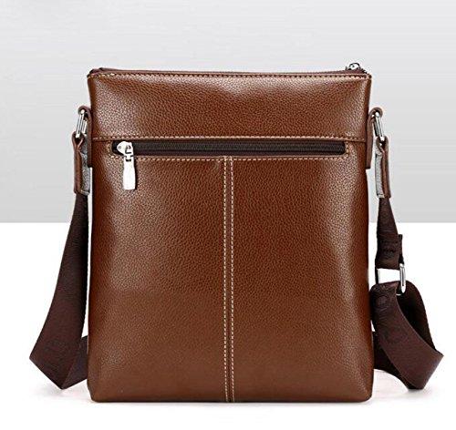 Bag Simple Capacity Section 's Briefcase Leisure Large Computer Vertical Shoulder Men Brown Enf5UxZn