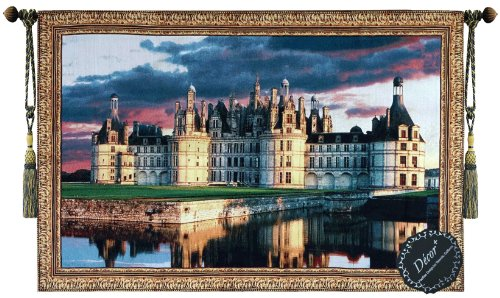 Beautiful Medieval Castle Fine Tapestry Jacquard Woven Wall Hanging Art Decor (Wool Wall Tapestry)