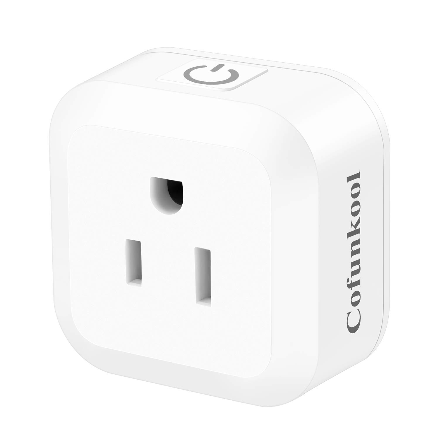 CofunKool Smart WiFi Plug Outlet Intelligent Mini Socket No Hub Required Remote Control Your Devices from Anywhere Work with Alexa and Google Home