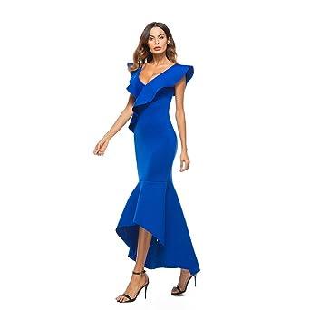 NewKelly Sexy Women Dress Sleeveless Ruffle Irregular Dress Evening Party Dress at Amazon Womens Clothing store: