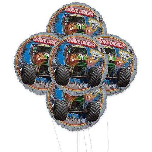 BirthdayExpress Monster Jam 3D 5pc Foil Balloon Kit]()