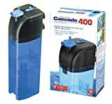 Penn Plax Cascade 400 Submersible Aquarium Filter Cleans Up to 20 Gallon Fish Tank With Physical, Chemical, and Biological Filtration