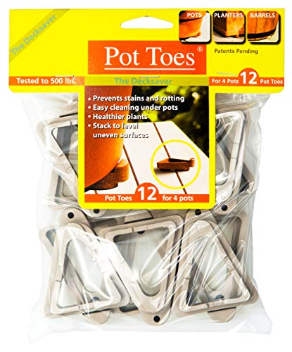 IGC Cartanna PT-12LGHT Bosmere Pot Toes, Terra-Cotta (Pack of 12)