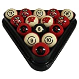 Wave 7 Technologies Wisconsin Billiard Ball Set - NUMBERED