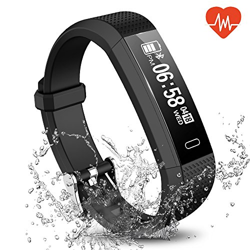 Fitness Tracker, Waterproof Activity Tracker Smart Sports Band with Heart Rate HR Sleep Monitor, SMS SnS Call Reminder, Calorie Step Counter Pedometer for Kids Men Women iPhone Android – DiZiSports Store