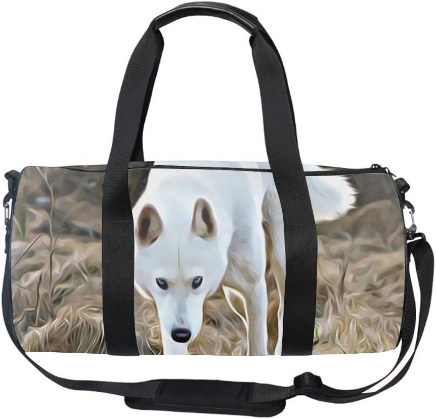 White Wolf Sports Gym Travel Weekender Duffel Bag