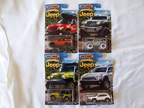 Matchbox Jeep Bundle of Four Cars
