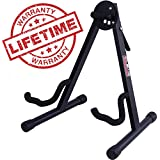 GLEAM Guitar Stand Fit Electric, Classical Guitars and Bass, Guitar Accessories, A-Frame Single Folding Guitar Stand