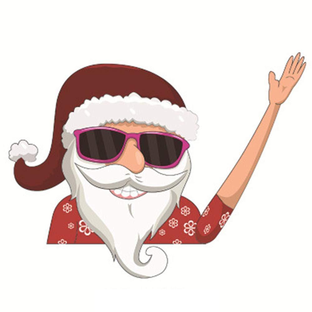 6 St/ücke Auto Heckscheibenwischer Aufkleber Weihnachten Aufkleber nette PVC Abnehmbare Weihnachtsdekoration Cartoon Schneemann Elf Weihnachtsmann Winken Scheibenwischer Tags F/ür Heckscheibe Ornament