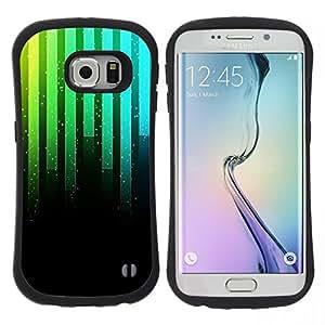 """Hypernova Slim Fit Dual Barniz Protector Caso Case Funda Para Samsung Galaxy S6 EDGE [Música Sintetizador de neón""""]"""