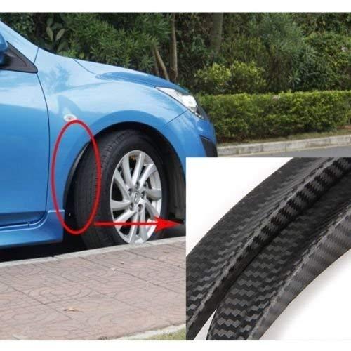 2X Carbon Fiber Style Fender Flare Wheel Lip Body Kit Universal For Car Truck