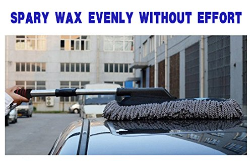 Car Microfiber Brush Detail Duster Vehicle Wash Brush Autospa For Interior And Exterior Extendable Telescope Handle JS LifeStyle