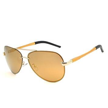 RFVBNM Gafas de sol de Aluminio con magnesio Gafas de Sol para Hombre polarizador de Moda