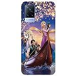 SmartNxt® Designer Printed Soft Plastic Mobile Cover for Vivo V21 5G||Comics & Cartoons||Blue||Princess Sailing with The… 2021 August