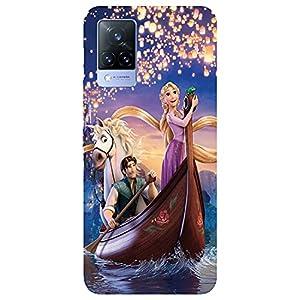 SmartNxt® Designer Printed Soft Plastic Mobile Cover for Vivo V21 5G  Comics & Cartoons  Blue  Princess Sailing with The…